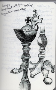 6th-7th Century Byzantine lamp made of copper alloy