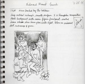 Museum sketching